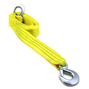 2 X20 Tow Strap With Forged Hooks 2 X 20 10000lbs Towing Rope Auto Boat Car