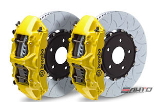Brembo Front Gt Brake 6pot Caliper Yellow 350x34 Type3 Slot Disc For Sti 05 14