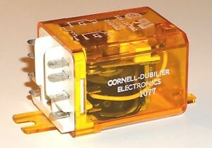 Cornell Dubilier Relay Dpdt 12vdc Coil 10 Amp Contacts New 222d10 12b