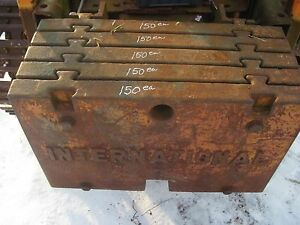 International T340 Td340 Crawler Rear Counterweight 307579r1 One Weight 300 Lbs