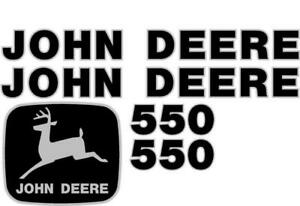 John Deere 550 Crawler Dozer Decal Set Jd Decals