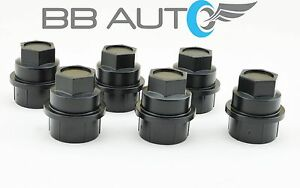 6 New Black Lug Nut Covers Caps Chevy Gmc Silverado 1500 2500 Full Size Truck