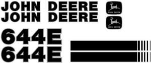 New John Deere 644e New Style Ns Wheel Loader Decal Set With Stripe Jd Decals