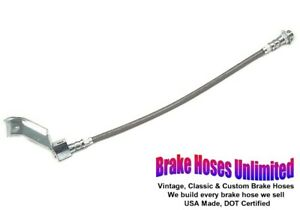 Rear Stainless Brake Hose Ford Mustang 1965 1966 With Dual Exhaust