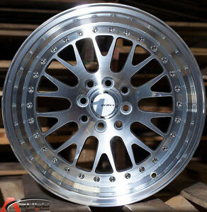 16x8 Avid 1 Wheels Av 12 4x100 114 3 Et25 Silver Rim Fits Scion Xb 2004 2007