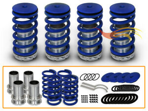 For 98 02 Honda Accord Coilover Lowering Coil Springs Kit Blue