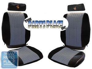1985 87 Grand National Front Rear Seat Covers W Headrest Covers
