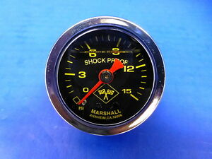 Marshall Gauge 0 15 Psi Fuel Pressure Oil Pressure 1 5 Midnight Chrome Liquid