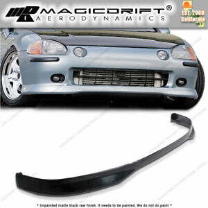 93 97 Honda Del Sol Body Kit Jdm Tr Type R Style Front Bumper Pu Lip Urethane