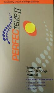 Perfectemp Ii Dental Temporary Crown Bridge Material Automix Denmat Acrylic