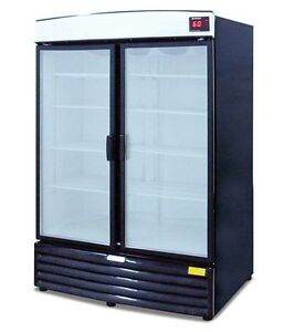 Metalfrio 2 Door Glass Refrigerator soda Cooler Beverage Merchandiser Reb 43