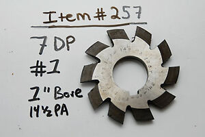 Gear Cutter 1 7dp 1 Bore 14 1 2 Pitch Angle Usa Made 7 Dp 1 Arbor