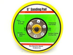 Lot Of 3 6 Sanding Pad Dual Action Random Orbital 10000rpm Stickit Sander Pad