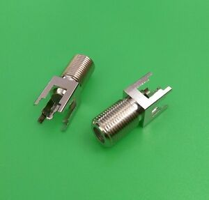 2 Pcs F Female Straight Pc Board Pcb Mount Long Type Connector Usa Seller