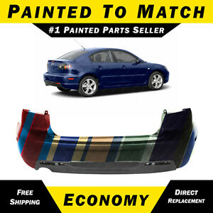 New Painted To Match Rear Bumper Cover For 2004 2005 2006 Mazda 3 Sedan 04 06
