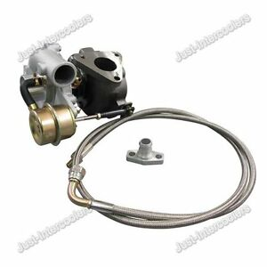 Universal Gt15 T15 Turbocharger Turbo Charger 42 A r Oil Feed Line Flange Kit