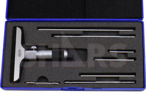 Shars Tools 0 6 Depth Micrometer 4 Base New