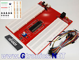 Picprotoboard 18f Solderless Prototyping Breadboard For Microchip Pic