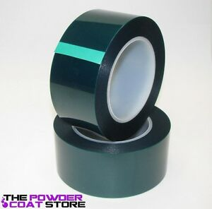 2 Inch X 72 Yds High Temperature Polyester Green Masking Tape For Powder Coat