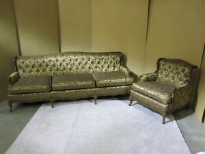 1960 S French Style Sofa Chair With New Upholstery