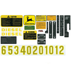 Decal Set John Deere 4520 2510 3010 4020 2520 4620 6030 4010 4000 3020 4320