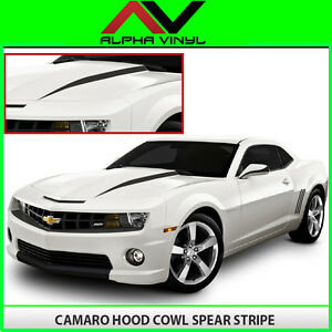 Chevrolet Camaro Hood Spears Spear 2010 2011 2012 2013 Decals Matte Black
