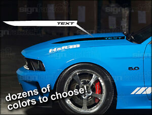 2010 2011 2012 2013 Ford Mustang Hood Cowl Buldge Spear Decals Gt Style 1