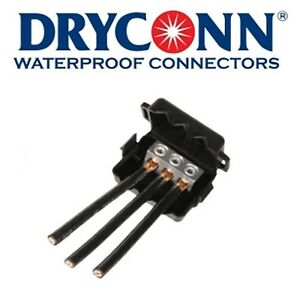 3 Dryconn Db Power Connect Waterproof Connectors 98105 New