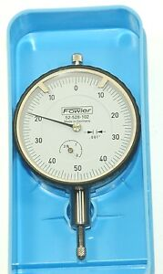 Fowler 52 528 102 Dial Gage 250 x 001 Made In Germany Great Deal