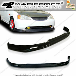 New Mu Mugn Front Bumper Lip Urethane Plastic For 01 03 Honda Civic 2dr Coupe