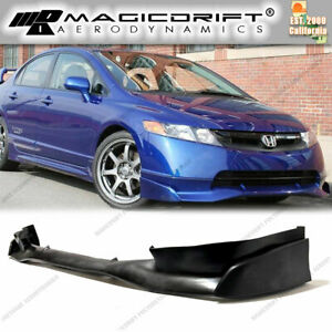 New Mu Mugn Si Front Bumper Lip Urethane Plastic For 06 08 Honda Civic 4d Sedan