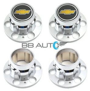 Chevrolet Chevy Silverado Suburban 4x4 6 Lug 15x8 Rally Wheel Center Cap Set New