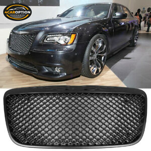 Fits 11 14 Chrysler 300 300c B Style Unpainted Front Hood Upper Mesh Grille