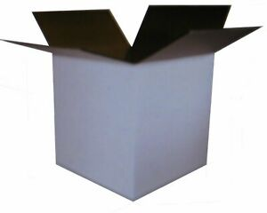25 10x10x10 White Corrugated Boxes Shipping Packing Moving Cardboard Cartons