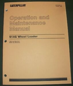 Cat Caterpillar 914g Wheel Loader Operation Maintenance Manual S n 7zm 9wm