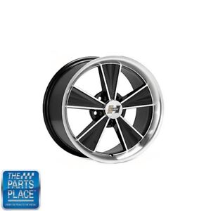 17 X 8 Hurst Wheels Set Of 4 Gm Retro Black Machined With Black Accents