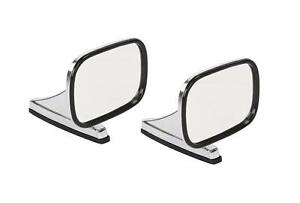 Mirror Classic Chrome Pair Side View Door Hot Rod Truck Car Universal Left Right