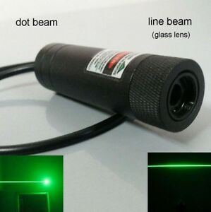 Diy Focus Real Power 100mw 532nm Green Module Burning Dot Laser Free Line Lens