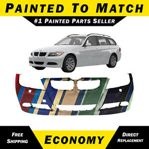 New Painted To Match Front Bumper Cover Replacement For 2006 2008 Bmw 3 Series
