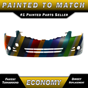 New Painted To Match Front Bumper Cover For 2010 2011 2012 Nissan Altima Sedan