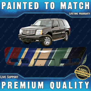 Painted To Match Front Bumper Cover Replacement For 2002 2006 Cadillac Escalade