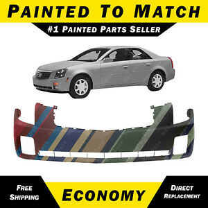 New Painted To Match Front Bumper Cover Replacement For 2003 2007 Cadillac Cts