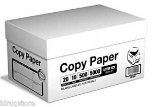 Multi purpose Printer Copy Paper 8 5x11 Letter 5000 Sheets 10 Reams