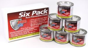 New Por 15 Rust Preventive Six Pack Black 6 Pack 4 Oz Cans