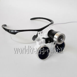 Hot Dental Loupes 3 5x R Surgical Binocular Optical Glass Led Head Light Lamp