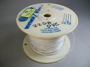 Whitmor Wirenetics Tinned Copper Electrical Wire 22 Awg White Color 750 Feet