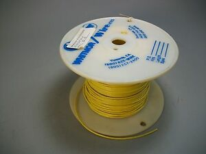 Whitmor Wirenetics Tinned Copper Electrical Wire 22 Awg Yellow Color 350 Feet