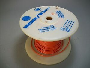 Whitmor Wirenetics Tinned Copper Electrical Wire 18 Awg Orange Color 200 Feet