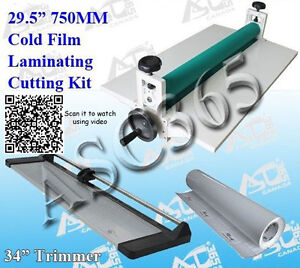 Lamiantor Kit 29 5 Cold Laminator 34in Paper Trimmer 1 Rolls Laminating Film