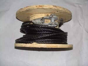 Military Truck Parts Winch Cable W Lead Approx 60 Nsn 4010 00 264 5062
